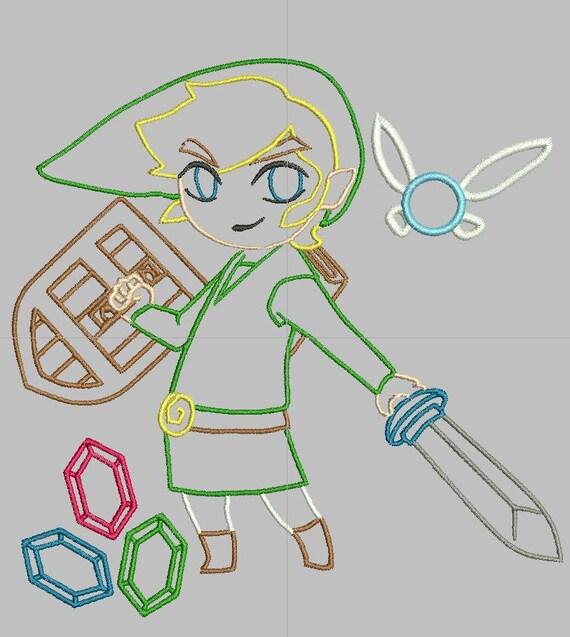 Items Similar To Legend Of Zelda Link Outline Machine