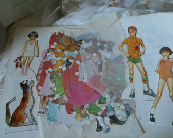 Vintage Paper Cutouts Beverly Cleary Designs All Paper Clothes Are Cut Out Little Ramona