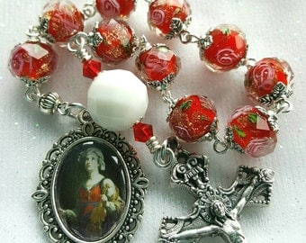 Saint Cecilia Cecily Patroness of Musicians Rosary - One Decade Rosary