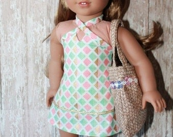 American Girl Tropical sundress for Lea - plus extras, great for Summer