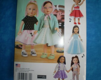 simplicity 8072, 18 inch doll clothes.