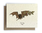 Holly/Bat's Wing Card - Plantable Seed Paper - Blank Inside