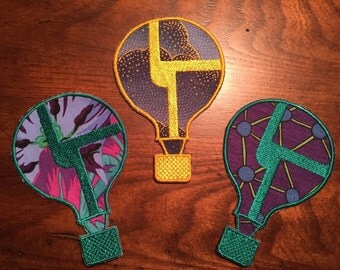Disco Biscuits CUSTOMIZED Hot Air Balloon Iron On Patch