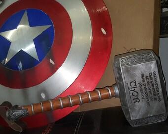 Full Aluminum Captain America Shield