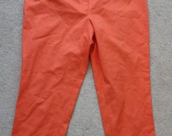 SALE Devernois orange cotton elastane capri pants trousers eu 46 , us 16, uk 18 unworn