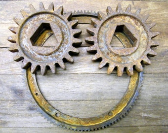 Rusty Old Industrial Factory Farm Implement Salvage Gears