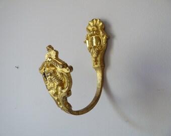1 Curtain Tiebacks, Ormolu - Napoleon III - 19th - Antique Bronze Curtain Tieback -  French Castle - French Antique Tieback