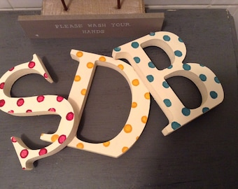 Painted Wooden Letters, Photo Props - 20cm, Standing, Wedding Letters, set of 3, initials, various colours and finishes