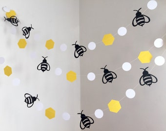 Mommy To Bee Bumble Bee Baby Shower Decorations , Bumble Bee Birthday Decor  , 10ft Bee