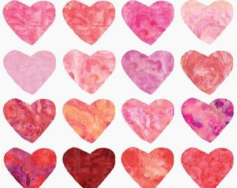 watercolor hearts valentines day clipart clip art digital - Watercolor Hearts Digital Clipart