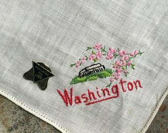 Vintage Unused Washington DC Handkerchief 1304