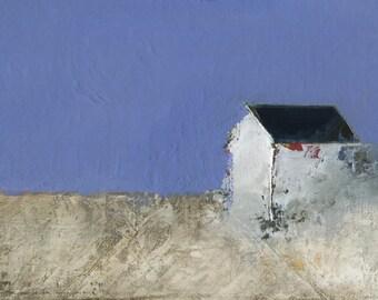 Levee below Zero — Original oil painting, landscape painting, abstract landscape, original painting, abstract oil painting, fine art, 5 x 7