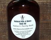 SALE Oatmeal Milk and Honey Moisturizing Body Oil