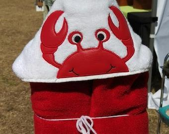Crab Hooded Bath Towel