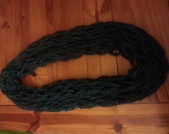 Blue cow neck scarf