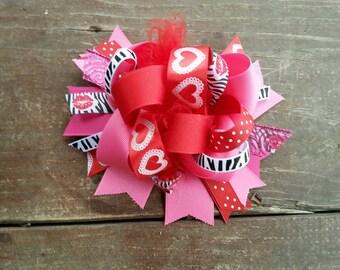 Valentine's hair bow