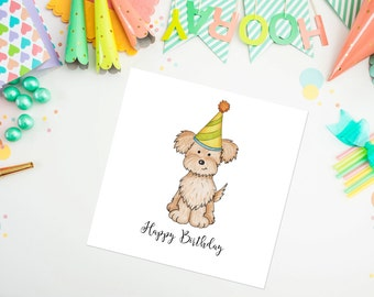 Pomapoo Birthday Card, Pomapoo, birthday card, ideal for dog lovers