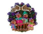 On Sale 25% Off Christmas Wreath Ornament Wreath Gingerbread Man Wreath Holiday Home Decor Christmas Door Holiday Ornament Decor Gingerbread