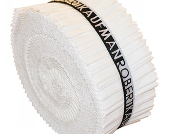 Kona Solids Snow Colorway 2-1/2in Strips Roll Up Jelly Roll 40pc