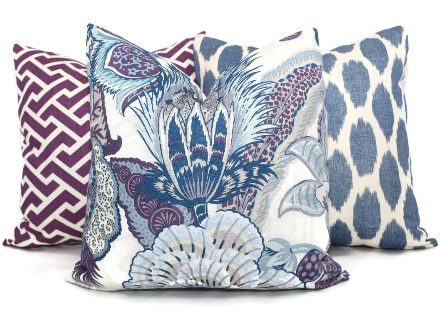 Hyacinth Zanzibar Decorative Pillow Cover 18x18 20x20 22x22