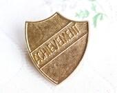 Achievement Badge - Brass pin Brooch