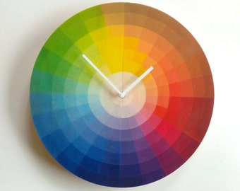 Objectify Color Wheel Plywood Wall Clock - Large