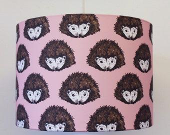 Hedgehog Lampshade - Hedgehog light - handmade lampshade - hedghog - pink lampshade - cute lampshade - lampshade for girls - nursery light
