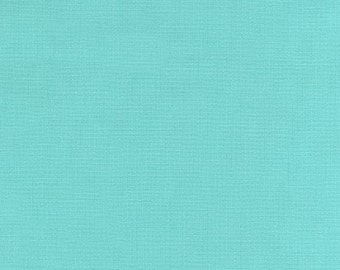 LAMINATED cotton fabric by the yard (similar to oilcloth) - Solid Aqua capri - WIDE - BPA free - Approved for children's products