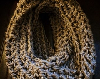 Loose stitch chunky scarf