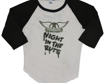 Aerosmith Shirt Vintage tshirt Rare 1979 Night In The Ruts Right In The Nuts Jersey concert tee Steven Tyler band rock 1970s Original