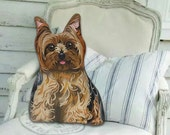 Yorkshire Terrier Stuffed Dog -  Front only - Dog Pillow - Stuffed Animal