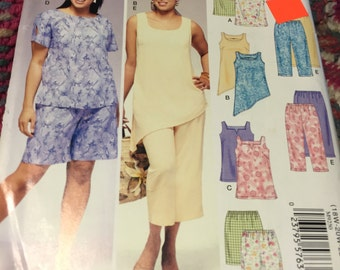 Easy Stitch 'n Save by McCall's ~ Women Plus Size Clothes  ~ M9250 ~ 18W-24W ~ Uncut Factory Folded