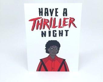 Michael Jackson Thriller greeting card