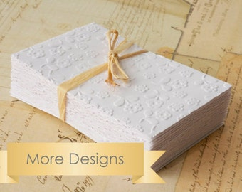 25 Small white embossed envelopes mini coin envelopes. Choose your style paisley polka dots birds or flowers