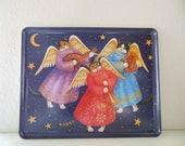 Reserved for Lois Cat Angels Tray Cats Melamine Tray Design imports Made in ITALY Christmas Angels from The Back part of the Basement