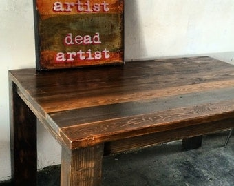 reclaimed wood dining room table. Reclaimed Wood Dining Table  made in Dtla wood dining table Etsy