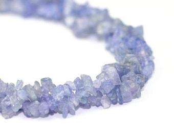 Valentines Sale Tanzanite Chip Beads 3 Inch Strand Periwinkle Blue Semi Precious Gemstone
