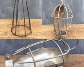Vintage industrial wire cage light