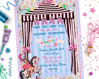 CIRCUS INVITATION ~ Personalized Printable Download