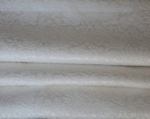 RESERVED for Antoinette, Final Payment  - Two Pairs of Vintage Curtains, Cream on Cream Brocade Blackout, Mint Condition