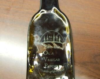LEBHERZ Olive Oil Vinegar Bottle Fused Flat