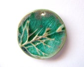 Forest Mist Green Branch Pendant