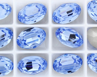 Swarovski 4120 Light Sapphire 16x11mm Crystal Stones  Foiled