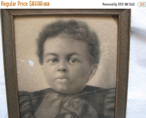 Valentine SALE photograph of African American child son of a slave Virginia 1860's Civil War Era