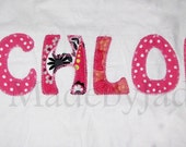 Girls PILLOW Applique Name