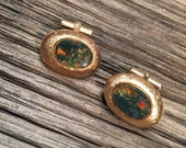 Destino Moss Agate Cuff Links