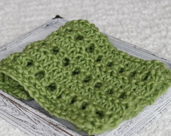 Green wool bump Blanket,Thick mini blanket,thick  merino layer Miniblanket,