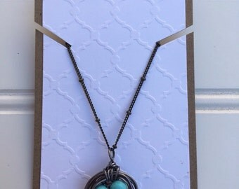 Customizeable Nest necklace, Bronze