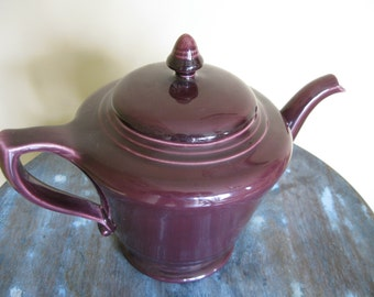 Franciscan Ware Eggplant Glaze Color Teapot California Pottery