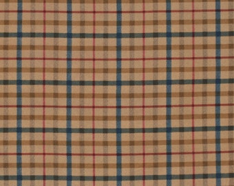 Large Flannel Plaid in Red, Blue, and Brown  1 yard